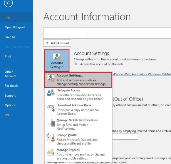 Email Setup   for Microsoft Outlook 2016-002