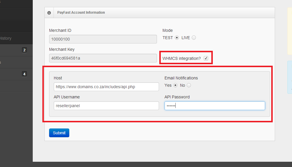 How to Integrate WHMCS for reseller billing on cp resellerpanel co