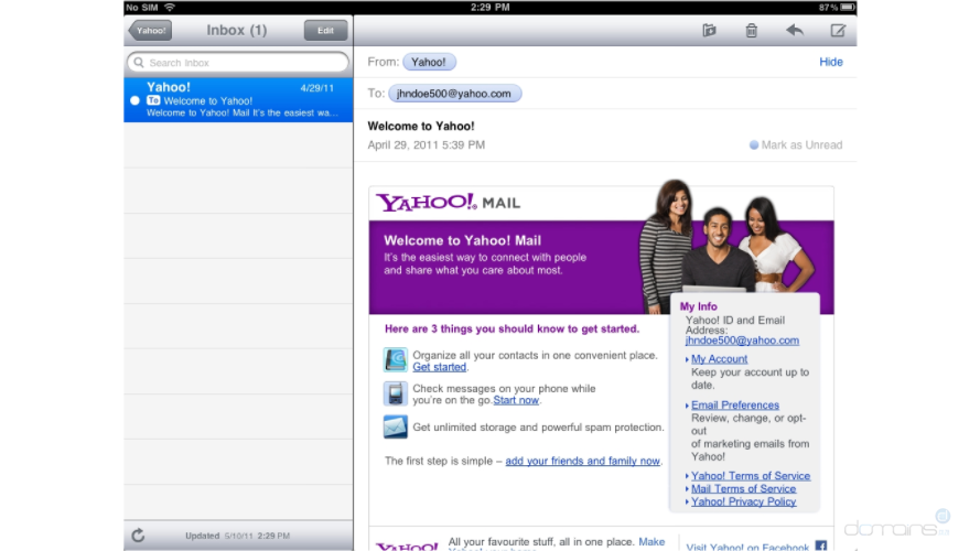 How to setup a Yahoo! email account on your iPad - Knowledgebase
